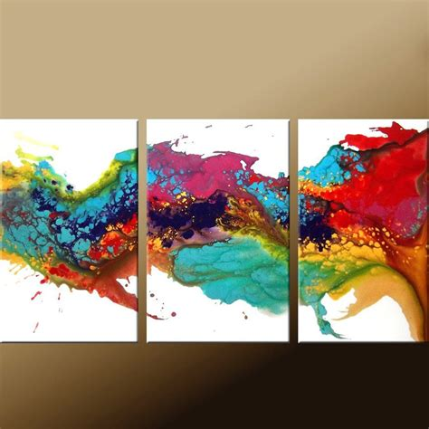 3pc Original Abstract Modern Contemporary Art Painting By Dwo