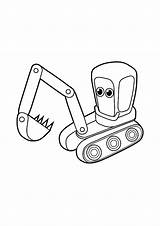 Coloring Pages Excavator sketch template