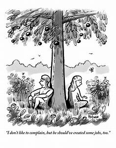 Adam And Eve Sit Back To Back Against A Tree Drawing by ...