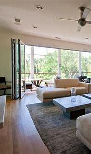 Modern Island Beach Home Retractable Wall - Tropical ...