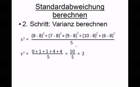 empirische varianz berechnen varianz berechnen mit
