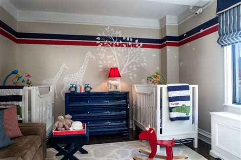 décoration chambre bebe garcon bleu