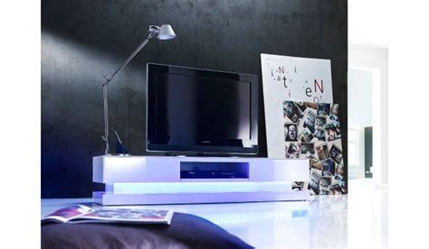 Meuble Tv Led Laqué Blanc Design Pour Meuble Tv