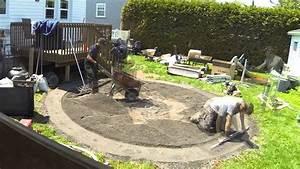 Preparation Terrain Pour Piscine Hors Sol Tubulaire : installation d 39 une piscine hors terre aboveground pool ~ Melissatoandfro.com Idées de Décoration