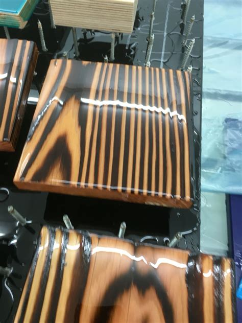 burnt wood  transparent epoxy resin wood burning art