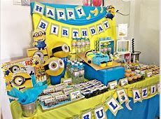 minion candy table Contact us at partyhatmygmailcom