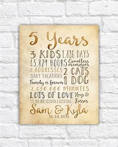 5 year anniversary gift 5th year of marriage or dating With five year wedding anniversary gift