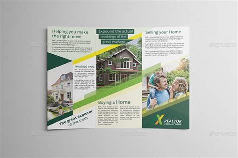 Real Estate Tri Fold Brochure Template by Real Estate Tri Fold Brochure Template Csoforum Info
