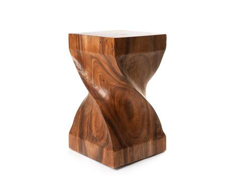 storage end tables for living suar wood side table sculptured wooden stool