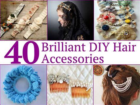 40 Brilliant Diy Hair Accessories Livinginocom