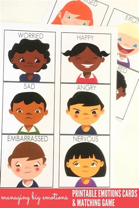 printable emotions cards with emotions ideas slp 668 | 2ff16b71a1358709b47e910dc410fd36 feelings preschool feelings cards for kids
