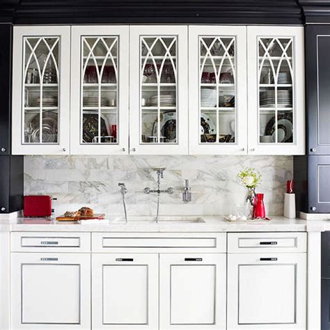distinctive kitchen cabinets  glass front doors