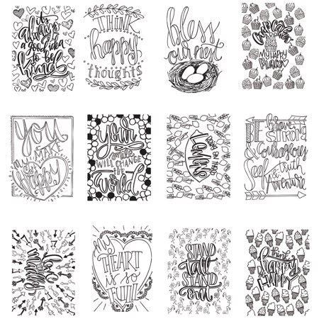 artplay watercolor paper mini coloring book 4 quot x6 quot 12 pages