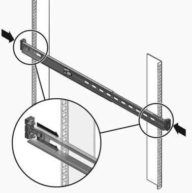 Installing Rack Rails by Install The Snap In Slide Rail Assemblies Sparc T3 1