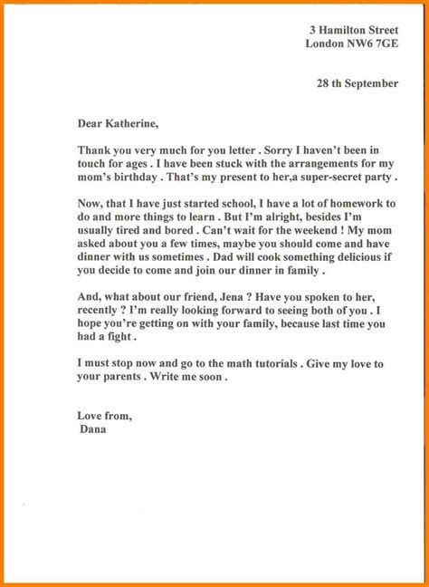 informal letter format  world  printables