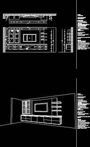 Tv Cabinet Dwg Block For Autocad  U2013 Designs Cad