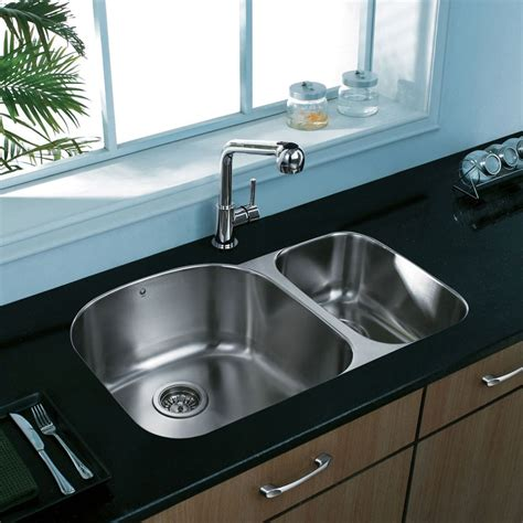 9 inch kitchen sinks vigo industries vg3121l 32 inch undermount bowl 7386