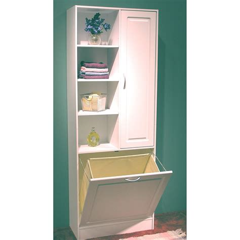 concepts white bathroom tower  pull  hamper