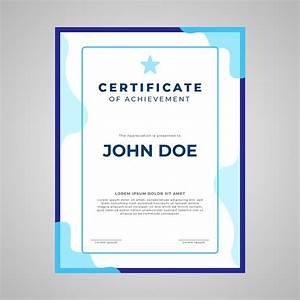 award certificate template border certificate template portrait layout download free