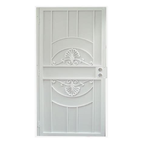 security doors lowes shop gatehouse alexandria white steel surface mount single