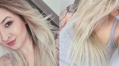 Ombré Hair Blond Polaire Ombr 233 Hair Blond Polaire Par L Atelier De Julie 224 Villers L 232 S Nancy