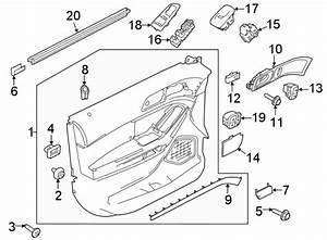 2016 Ford Explorer Interior Door Handle  Rear   Limited