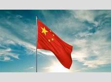 Flag of China 3D max animation HD YouTube
