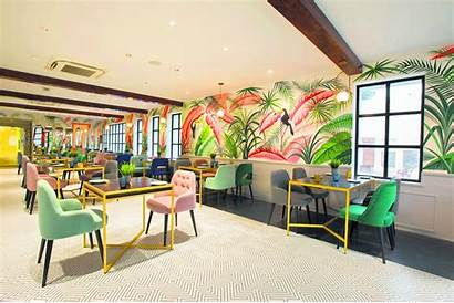 Canvas Sketch Tropical Vibes Bar Coffee Chennai