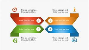 Creative 4 Steps Layout For Powerpoint
