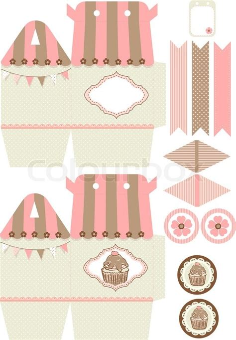 Diy Cupcake Box Template