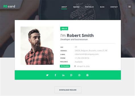 Resume Website by Material Design Resume Cv Portfolio Www Designs