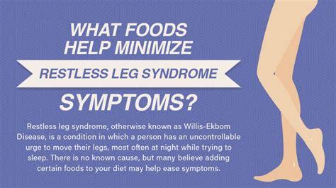 foods  minimize restless leg syndrome symptoms
