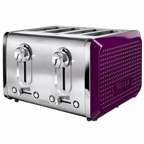 purple toaster oven 13791 dots 4 slice toaster purple