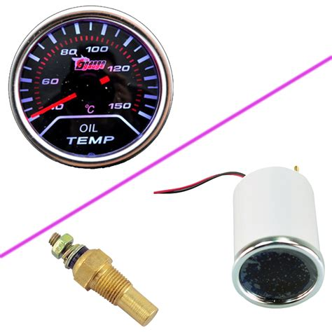 Led Auto Instrument Len by Car Motor Universal Smoke Len 2 Quot 52mm Indicator Temp