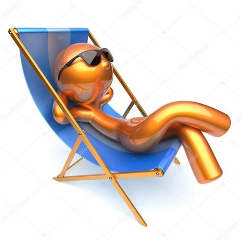 dessin chaise relaxing character chilling deck chair