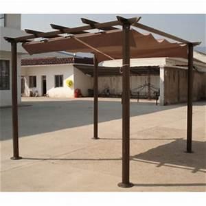 Tonnelle De Jardin 3x3 : pergola en aluminium 3x4 metres avec toit retractable ~ Nature-et-papiers.com Idées de Décoration
