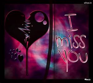 I Miss You With Broken Heart HD Wallpaper
