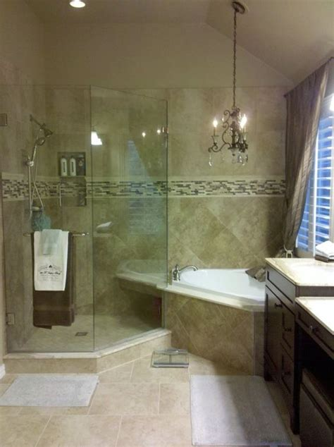 Chandelier Bathroom Sink by Glass Showers Master Bath And Master Bathroom Designs On