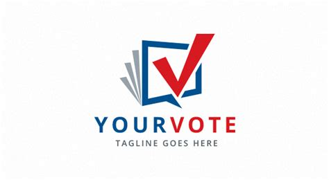 vote checkmark logo logos graphics