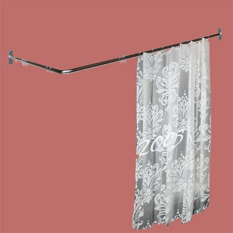 two sided shower curtain rod chrome plated brass 7 8 quot dia