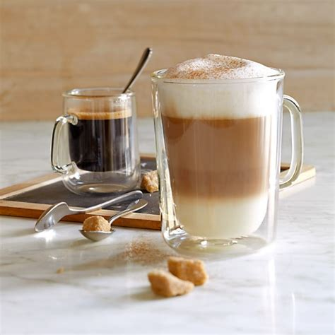 Doublewall Glass Coffee Cups  Williams Sonoma