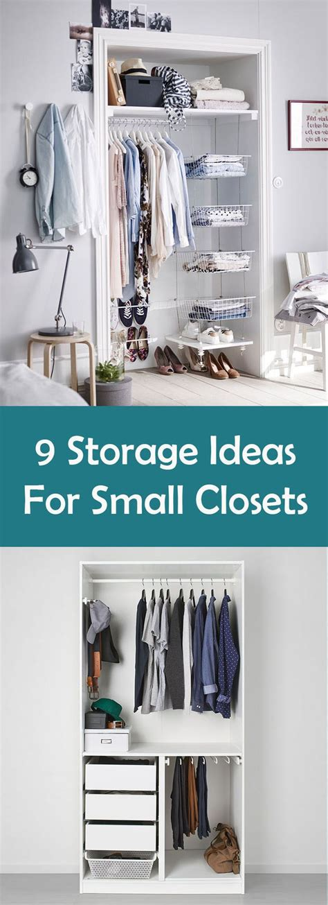 Closet Organization Ideas For Small Spaces by 9 Storage Solutions For Small Closets Home
