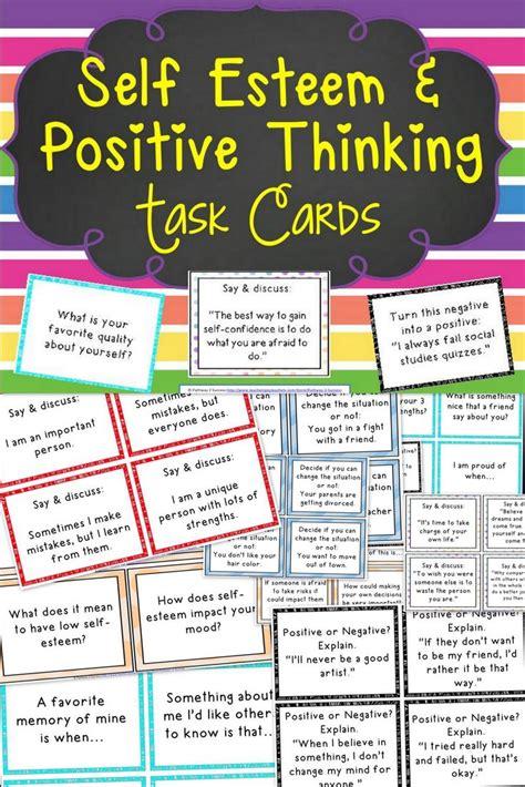 esteem  positive thinking task cards thinking