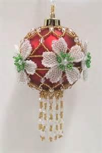 w538 bead pattern only beaded christmas rose ornament cover pattern beadedbundles on artfire
