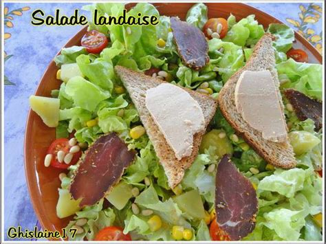 cuisine landaise recettes de salade landaise