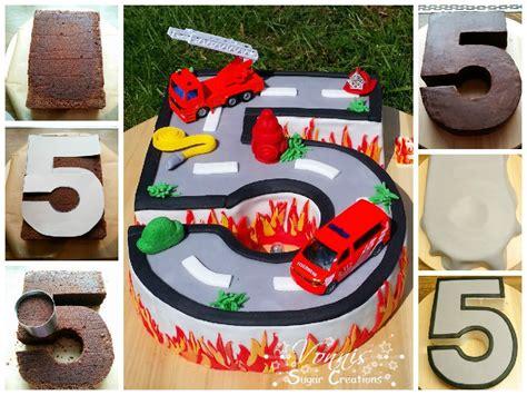 fondant torte für jungs birthday cake boy number fondant roadtruck firefighter geburtstag junge kuchen