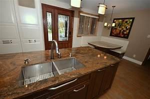 cuisine avec plan de travail en granit design en 3 dimensions With cuisine avec plan de travail en granit