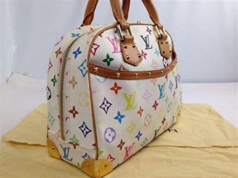 louis vuitton trouville multicolor rainbow handbag bag monogram jp lyst