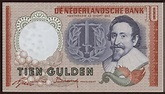 Netherlands 10 Gulden Banknote 1953 World Banknotes ...