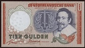 Netherlands 10 Gulden Banknote 1953|World Banknotes ...